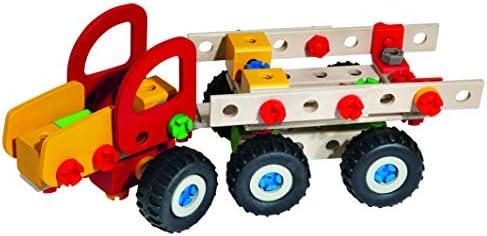 Eichhorn 100039058 - Constructor Harvester, 140-tlg., Holz Konstructions-Set, 3 verschiedene Modellvarianten baubar, FSC 100% Zertifiziertes Buchenholz