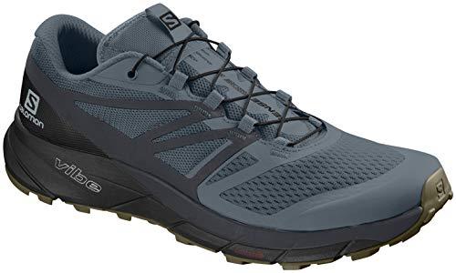 (Salomon Sense Ride 2 Trail Running Shoe - Men's Stormy Weather/Ebony/Black, US 9.5/UK 9.0)