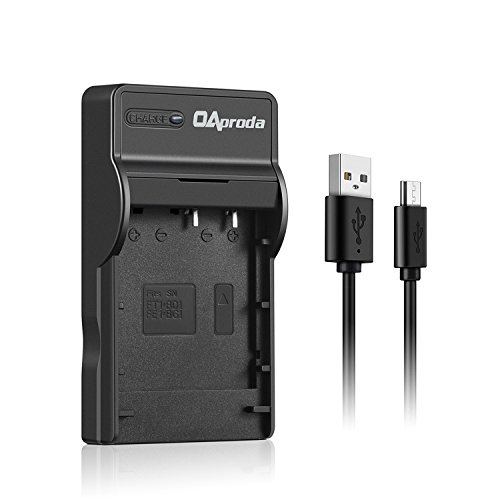 OAproda NP-BG1 Replacement Ultra Slim USB Battery Charger for Sony NP-BG1, NP-FG1, NP-FT1, NP-FR1, NP-BD1, NP-FD1, NP-FE1 Battery, Cyber-shot DSC-H3T20, HX5V, HX7V, HX9V, W290, W230 more Camera Models