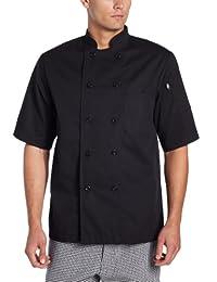 Dickies mens Donatello Short Sleeve Classic Chef Coat
