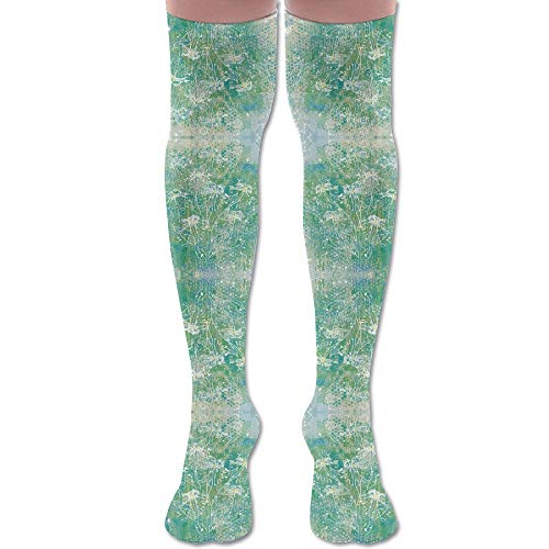 (DFAUHAL Daisies in The Shadow Box Wallpaper (4542) Knee High Graduated Compression Socks for Unisex - Best Medical, Nursing, Travel & Flight Socks - Running & Fitness)