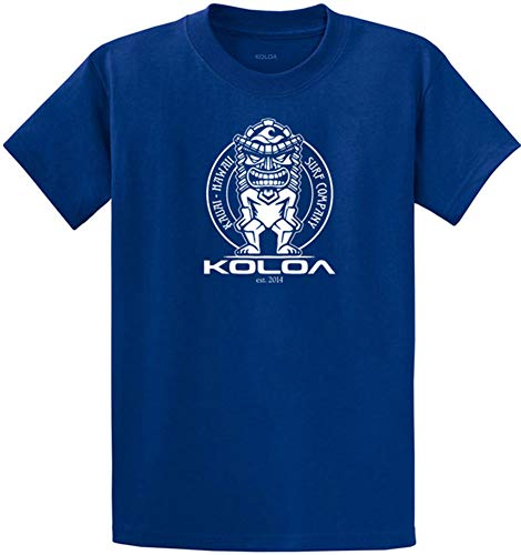 Koloa Surf Tiki Logo Cotton T-Shirts in Regular, Big and Tall Sizes