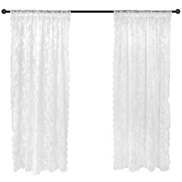 DII Elegant Decorative Sheer Curtain, Panels, Window Treatments or Drape, 50x84\
