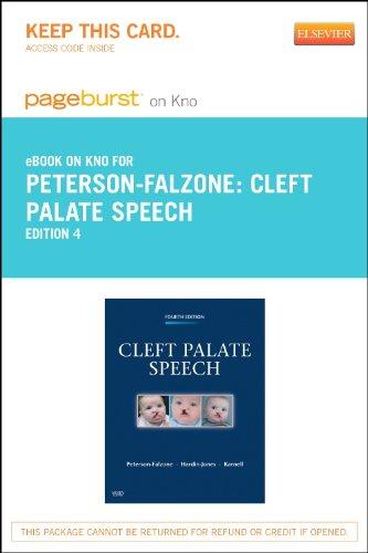 Cleft Palate Speech - Pageburst E-Book on Kno (Retail Access Card), 4e
