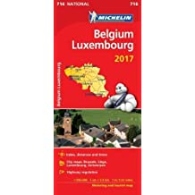 Belgium 2017 & Luxembourg National Map 716