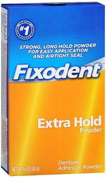 Fixodent Denture Adhesive Powder Extra Hold - 1.6 oz, Pac...