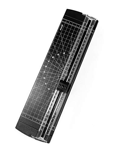 - Glone A4 Paper Cutter 12 Inch Titanium Paper Trimmer Scrapbooking Tool with Automatic Security Safeguard for Craft Paper, Coupon, Label and Cardstock (Black)