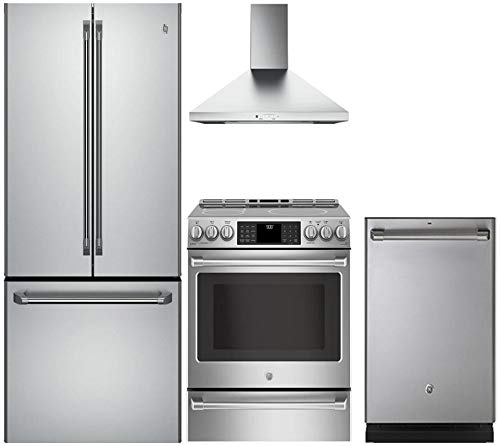 GE Cafe 4-Piece Stainless Steel Kitchen Package CWE23SSHSS 36