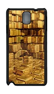 3D Yellow Texture PC Case and Cover for Samsung Galaxy Note 3 Note III N9000 Black