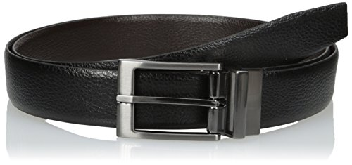 Van Heusen Men's Big and Tall Reversible Leather Belt, black/Brown, 50