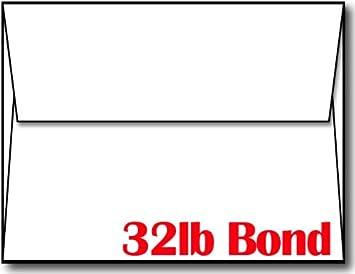 Amazon.com : White 32lb Bond Heavyweight A2 Envelopes - 100 ...