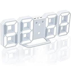 Alarm Clock LED Digital Wall clock Electronic Desk Clock with Snooze Function