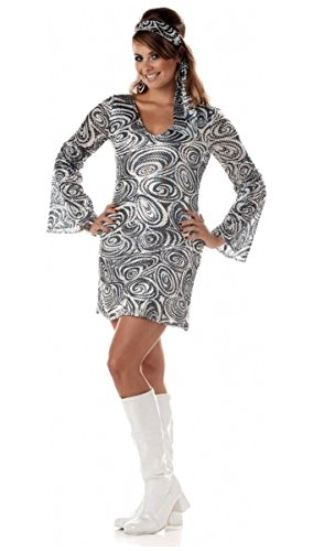 Disco Female Costumes (Disco Diva Women Plus size 16-18)