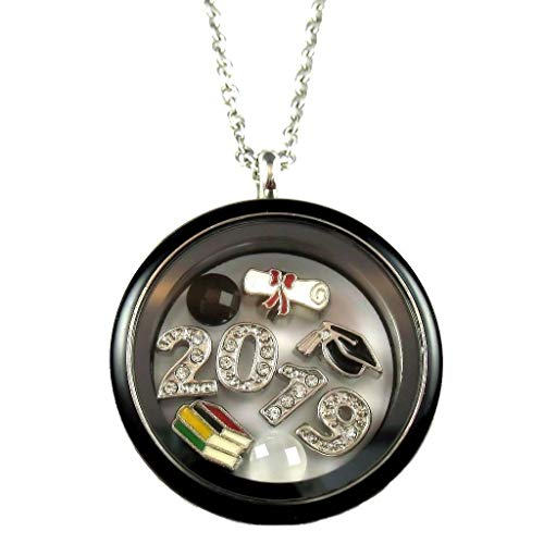FCL Designs - Graduation 2019 Theme #1 Floating Charm Locket ()