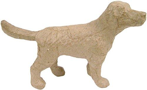 """Brand New Paper Mache Figurine 4.5""""-Dog Brand New"""