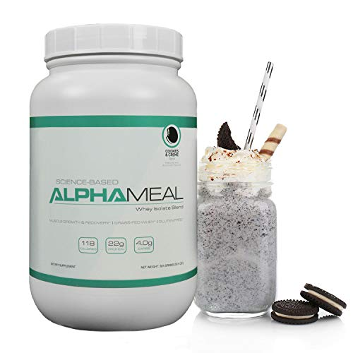 Alpha Meal Grass-Fed Whey Protein Powder - Cookies & Cream Flavor ()