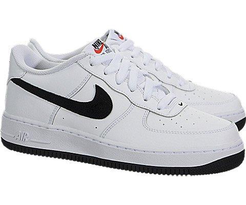 Picture of Nike Air Force 1 White/Black-Team Orange (GS) (7 M US Big Kid)