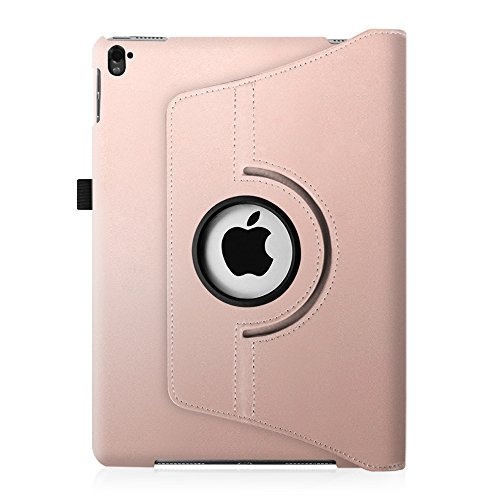 Fintie iPad Pro 9.7 Case - 360 Degree Rotating Stand Case with Smart Cover Auto Sleep / Wake Feature for Apple iPad Pro 9.7 Inch (2016 Version), Rose Gold Photo #3