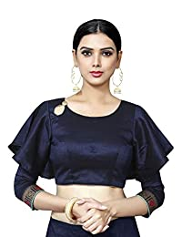 Elina fashion Women's Party Wear Readymade Bollywood Designer Indian Style Padded Crop Top Choli Blouse for Saree