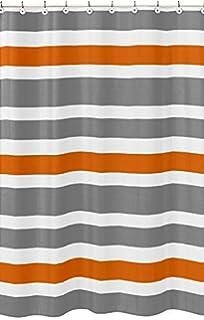 Amazoncom CafePress Gray Chevron Pattern Orange Stripe Shower - Gray and orange shower curtain