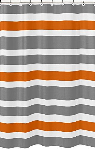 Amazon Sweet Jojo Designs Gray Orange And White Kids Bathroom