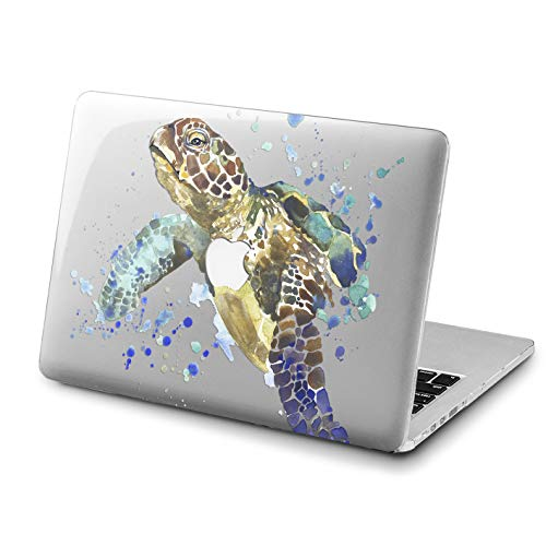 Lex Altern Turtle MacBook Air Case 13 inch 2017 Model Pro A1989 15 2018 Watercolor Mac Clear Retina 12 Cover Hard Shell Animal Ocean Laptop 11 Apple 2016 2015 Protective Girl Blue Print Nature Sea -