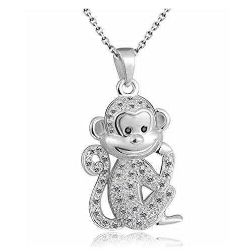 Tabwing Monkey Pendant Necklace Bridal Wedding Jewelry,bridesmaid Gift