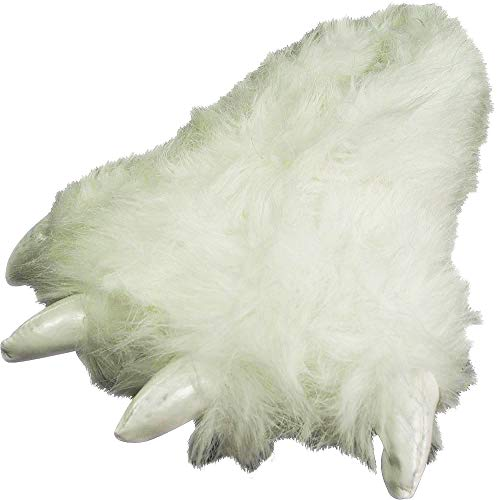 (NORTY - Adults Big Foot Polar Bear Claw Slippers, White)