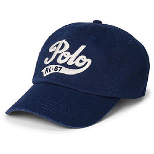 Polo Ralph Lauren Polo Script Chino Baseball Cap Adjustable Buckled Back - 67 Rl Ralph Lauren