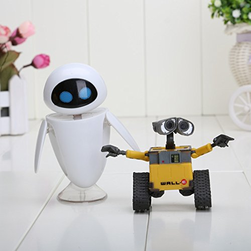 Cartoon Movie Wall E Toy (2pcs/set) Walle Eve Figure Toys Wall-E Robot Figures Dolls
