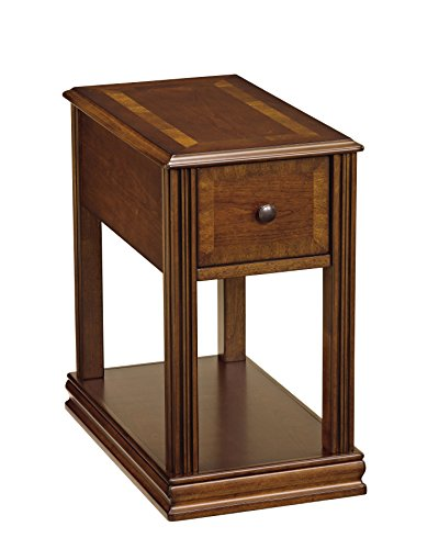 Side End Wood Table - Ashley Furniture Signature Design - Breegin Contemporary Chair Side End Table - Rectangular - Brown Finish