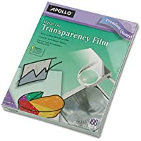 Write-On Transparency Film, Letter, Clear, 100/Box, Sold as 2 Box, 100 Sheet per Box