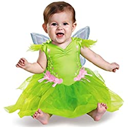 Disguise Baby Girls' Tinker Bell Deluxe Infant Costume, Green, 6-12 Months