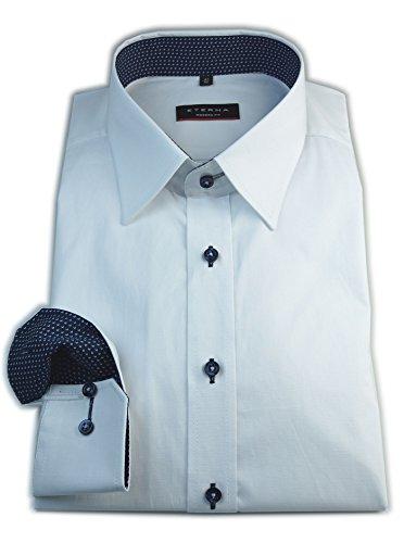 ETERNA Herren Langarm Hemd Modern Fit Stretch weiß mit Patch 8977.00.X148