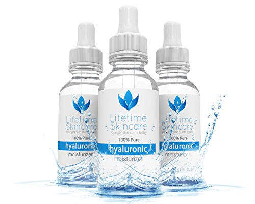 Best Hyaluronic Acid Serum For Your Skin By Lifetime Skincare - 100% Pure Hyaluronic Acid Anti Wrinkle Serum -...