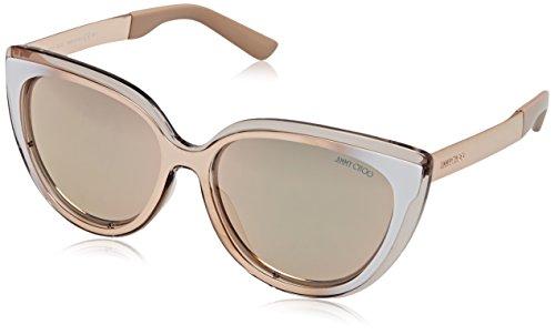 Jimmy Choo Cindy/S 1RX Grey / Ivory / Gold Cindy Cats Eyes Sunglasses Lens - Gold Jimmy Sunglasses Choo