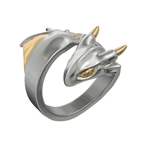 EVBEA Dragon Rings for Women Unique Statement Two Tone Wrap Dragon Jewelry with Wings(8)