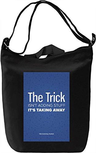 Zuckerberg quote Borsa Giornaliera Canvas Canvas Day Bag| 100% Premium Cotton Canvas| DTG Printing|