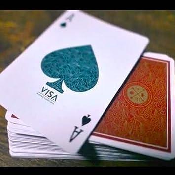 SOLOMAGIA Visa Playing Cards - Red - Tarjeta Juegos - Trucos ...