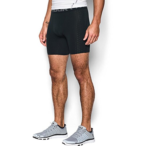 (Under Armour Men's HeatGear Armour CoolSwitch Compression Shorts, Black /Graphite, Small)