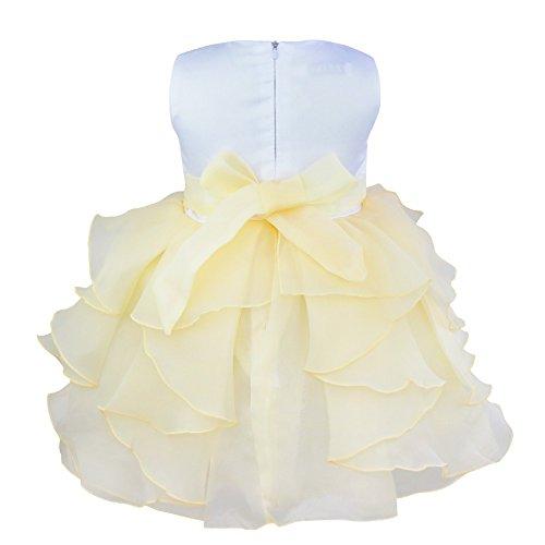 Party Princess Birthday Organza TiaoBug Ruffle Dress Wedding Beige Girls Pageant Baby 1Cw8wqf