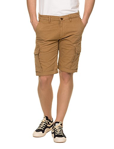 Franklin & Marshall Men's Men's Beige Gabardine Shorts in Size 30 Beige by Franklin & Marshall