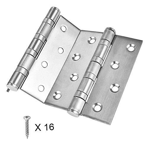 BTMB 2 Pcs 4''x3'' Stainless Steel Ball Bearing Door Hinge Folding Butt Hinges for Residential and Commercial with Screws