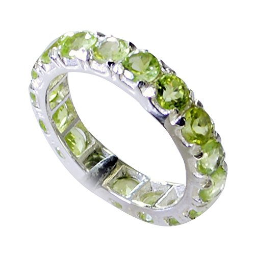 55Carat Natural Peridot Ring For Women Astrological August Birthstone Handmade Size 4,5,6,7,8,9,10,11,12