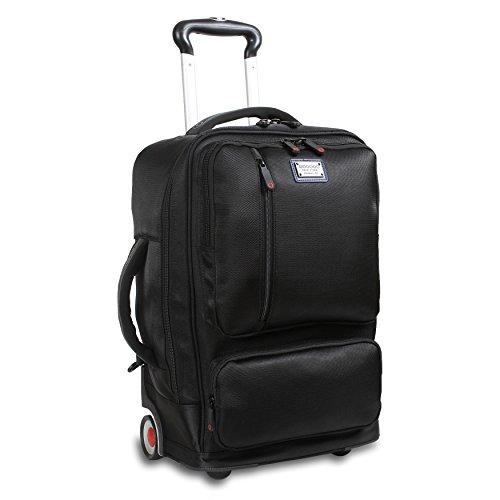 J World New York Oliver Business Rolling Backpack, Black by J World New York