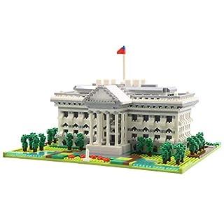 dOvOb Architecture White House Micro Blocks (2021PCS) - 3D Puzzle Building Blocks Set Toys for Kids or Adult