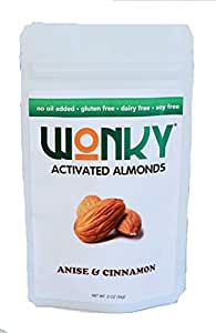 Wonky Anise & Cinnamon Activated Almonds - Case of 8 - 2 ounce bags