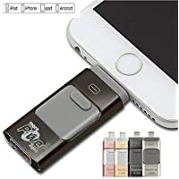 MorePower2you 128 GB New USB i-Flash Drive Device Memory Stick OTG for iPhone iPod iOS Black 128GB