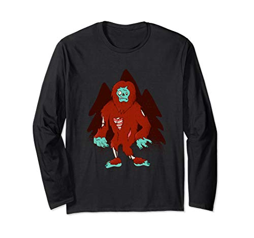 (Zombie Bigfoot - Halloween Scary Outfit Idea  Long Sleeve)