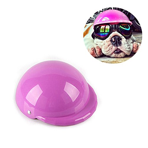 Mytop Pet helmet Hat Dog Ridding Caps Cosplay Hat ABS Plastic Doggie Puppy Bike Motorcycle Helmets Sports Dog Costumes Accessories for Dog-ROSE RED - Bike Costume